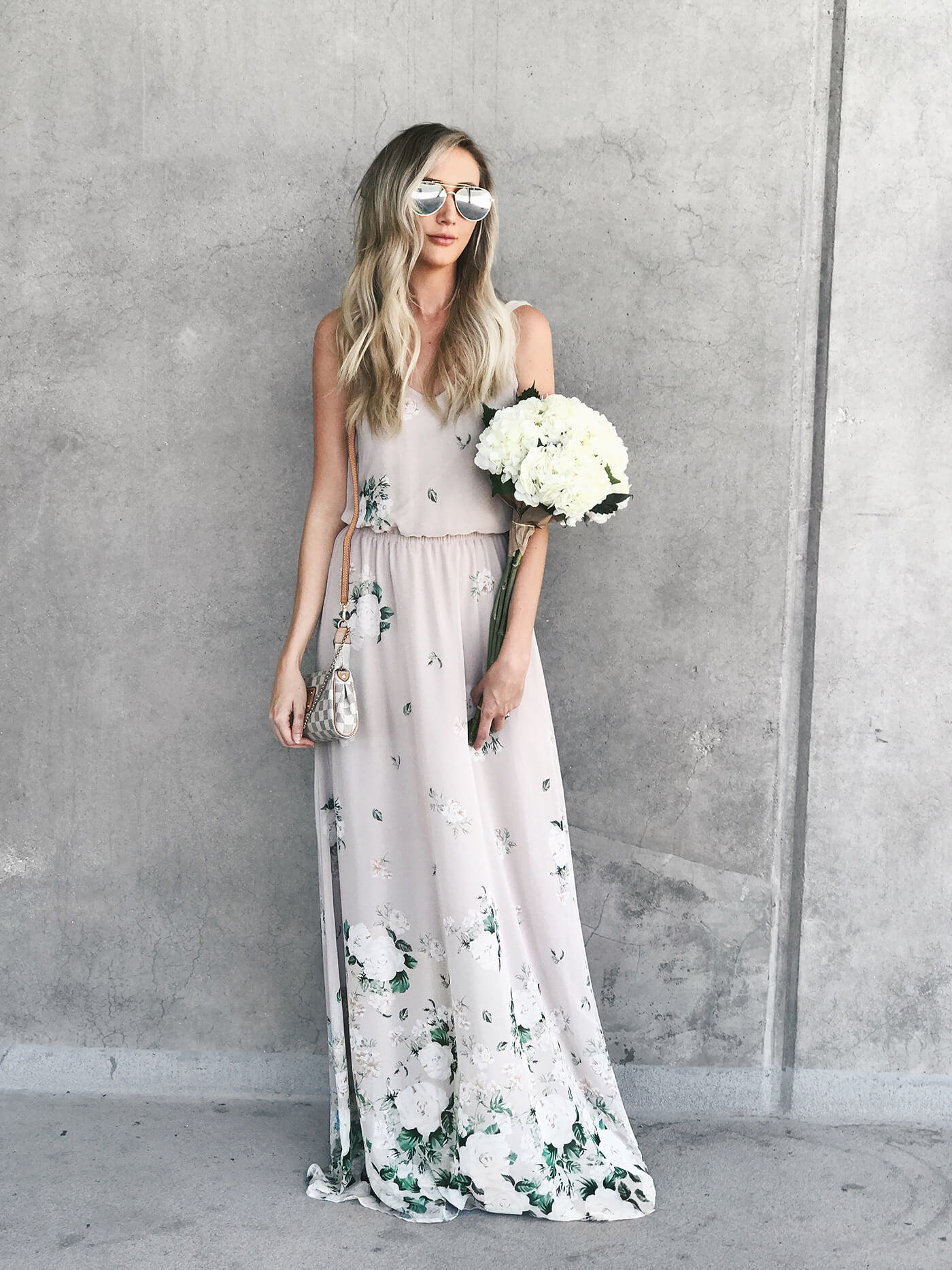 Carly Cristman - Summer Bridesmaid Dresses, bridesmaid dress ideas, floral bridesmaid dresses, summer maxi dress, flora maxi dress