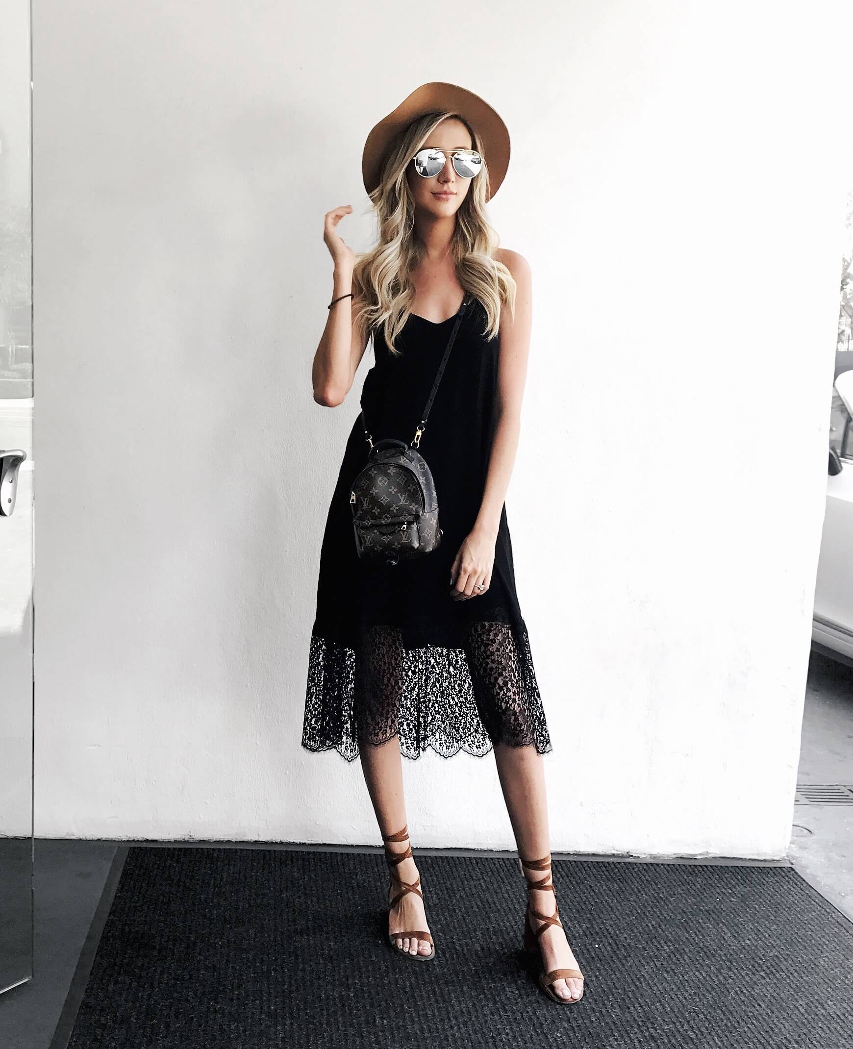 8c665bd49031 Carly Cristman - How to style a summer little black dress, casual summer  dress,