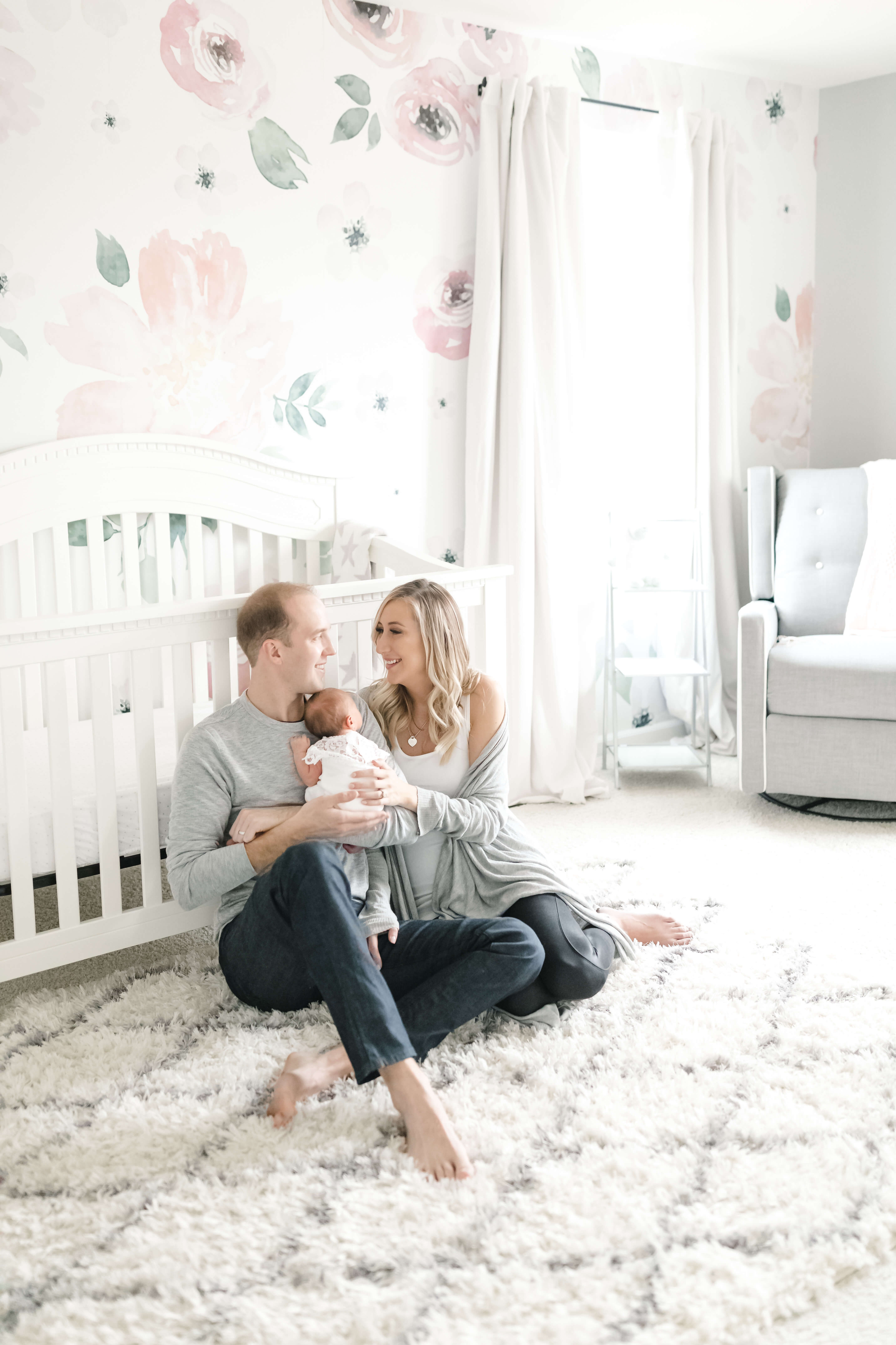 Carly Cristman, baby girl nursery tour